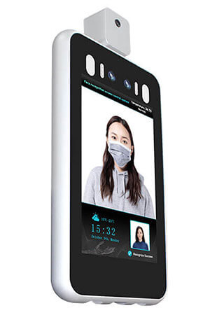 portable face recognition temperature screening scanner