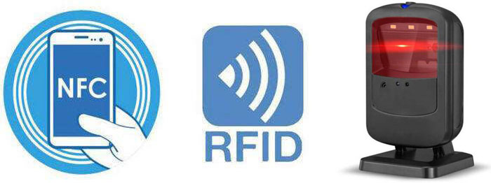 RFID reader with QR code reader