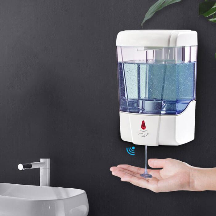 soap dispenser in washroom