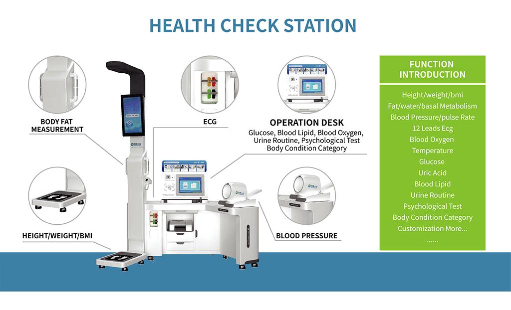 Funciones principales del quiosco de chequeos médicos